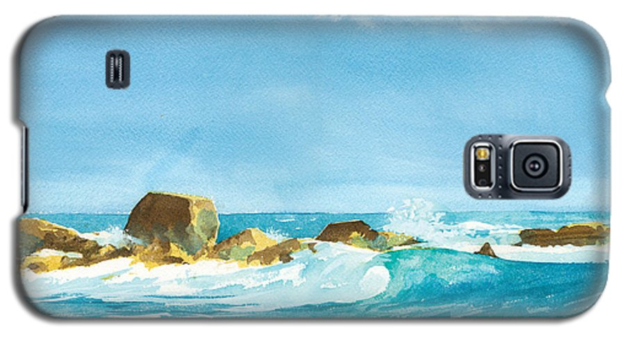 Waves Galaxy S5 Case featuring the painting Sound Of Surf by Ray Cole