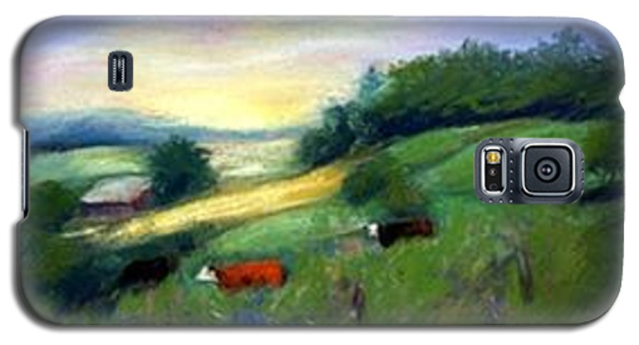 Landscape Galaxy S5 Case featuring the painting Southern Ohio Farm by Gail Kirtz