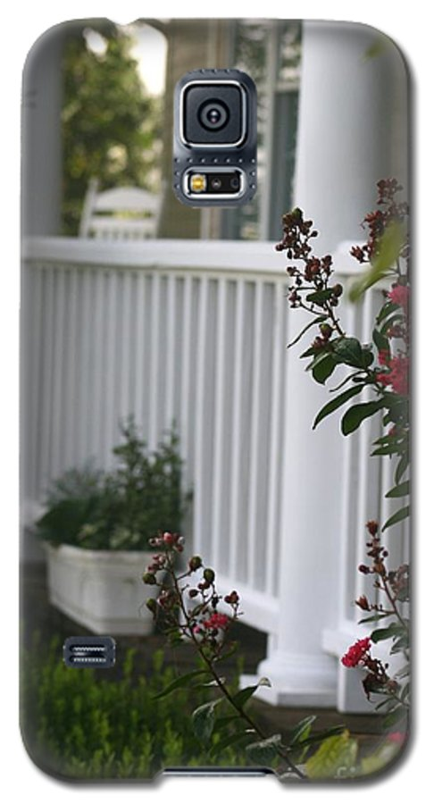 Summer Galaxy S5 Case featuring the photograph Southern Summer Flowers And Porch by Nadine Rippelmeyer