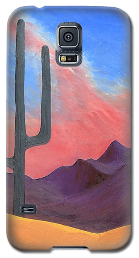Cactus Galaxy S5 Case featuring the painting Southwest Scene by J R Seymour