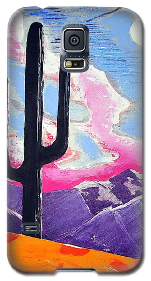 Cactus Galaxy S5 Case featuring the painting Southwest Skies 2 by J R Seymour