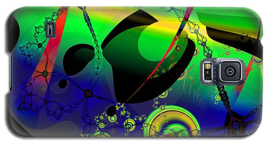 Fractal Galaxy S5 Case featuring the digital art Space Carnival by Frederic Durville