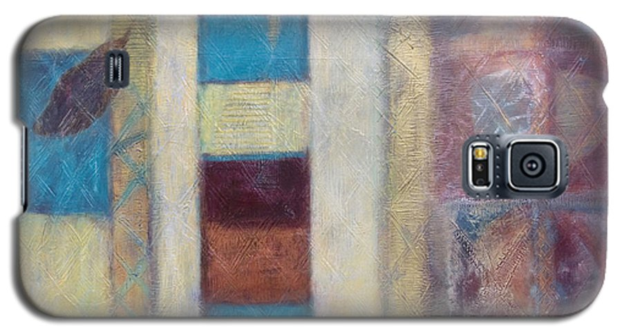 Spiritual Galaxy S5 Case featuring the painting Spirit Of Gold - States Of Being by Kerryn Madsen- Pietsch