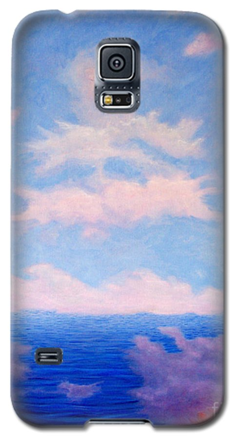 Buddha Galaxy S5 Case featuring the painting Spirit Of The Lake by Brian Commerford