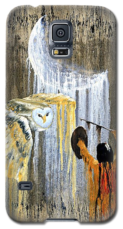 Indian Art Galaxy S5 Case featuring the painting Spirit Of The Night by Patrick Trotter