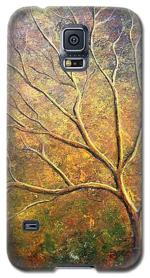 Galaxy S5 Case featuring the painting Spirit Tree 5 by Tami Booher