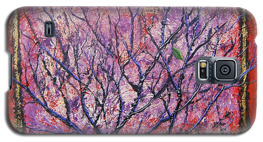Nature Galaxy S5 Case featuring the painting Spirit Tree 6 by Tami Booher