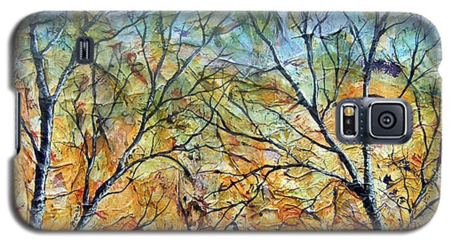 Galaxy S5 Case featuring the painting Spirit Trees 7 by Tami Booher
