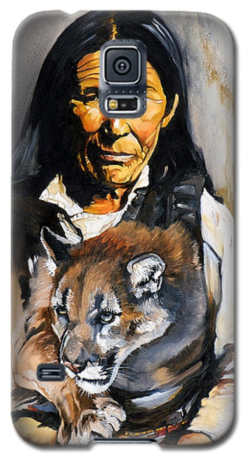 Spiritual Galaxy S5 Case featuring the painting Spirit Within by J W Baker