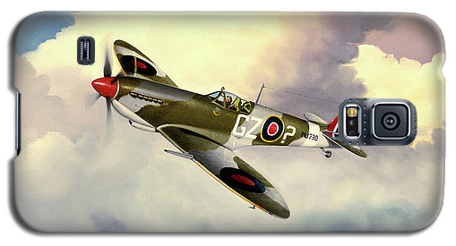 Military Galaxy S5 Case featuring the painting Spitfire by Marc Stewart