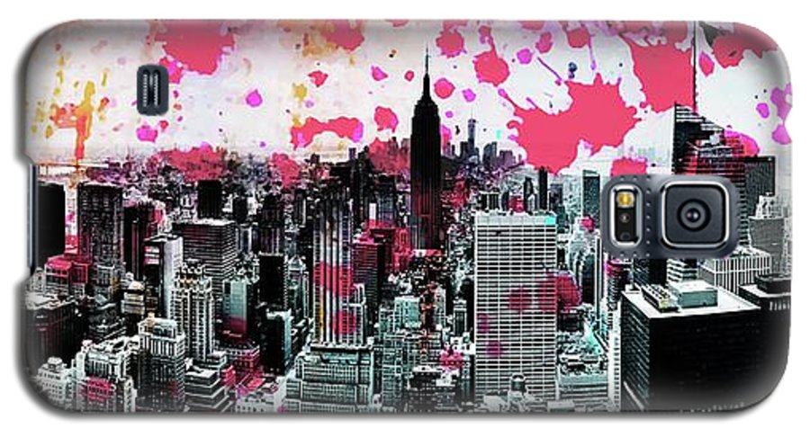 Empire State Building Galaxy S5 Case featuring the photograph Splatter Pop by Az Jackson