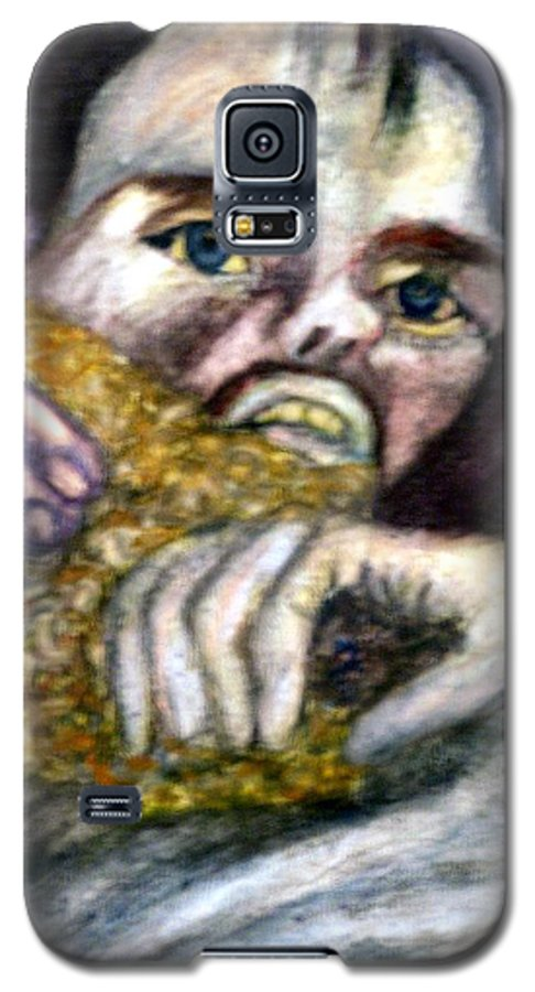 Spiritual Portrait Galaxy S5 Case featuring the painting Sponge Christ Your Eyes by Stephen Mead