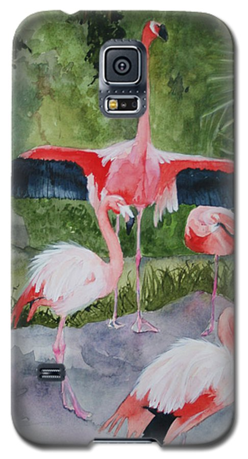 Wings Galaxy S5 Case featuring the painting Spreading My Wings by Jean Blackmer