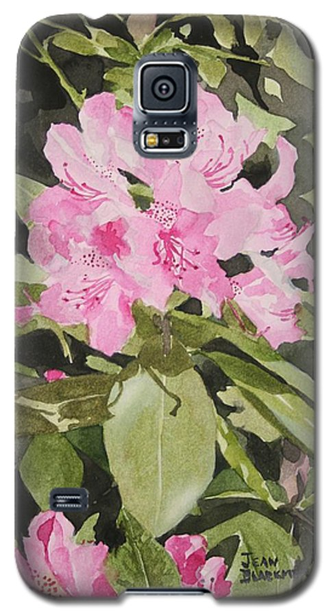 Flowers Galaxy S5 Case featuring the painting Spring At The Cabin by Jean Blackmer