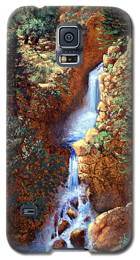 Wilderness Galaxy S5 Case featuring the painting Spring Cascade by Frank Wilson