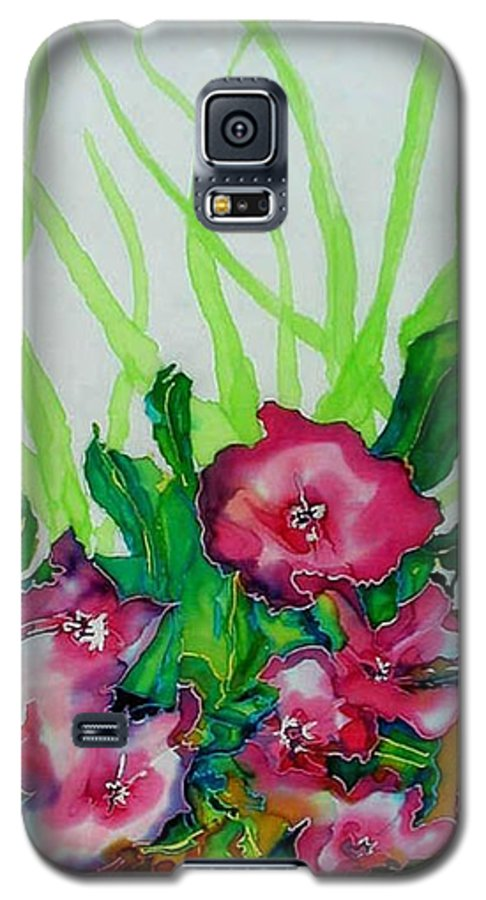 Flora Galaxy S5 Case featuring the painting Spring Celebration 1 by Ferril Nawir