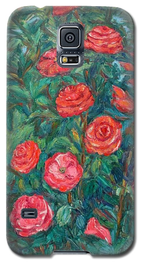 Rose Galaxy S5 Case featuring the painting Spring Roses by Kendall Kessler