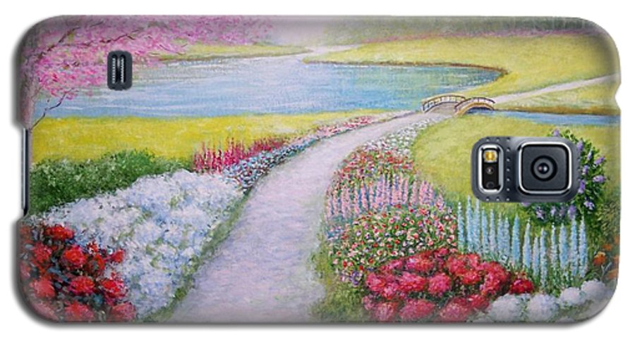 Landscape Galaxy S5 Case featuring the painting Spring by William H RaVell III