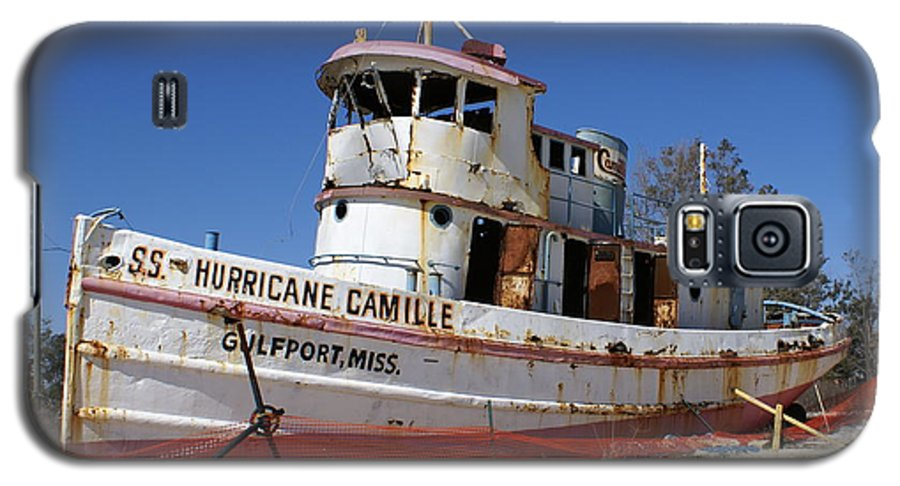Ship Galaxy S5 Case featuring the photograph S.s. Hurricane Camille by Debbie May
