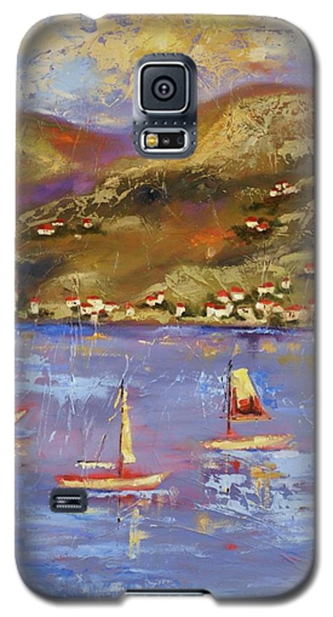 St. John Galaxy S5 Case featuring the painting St. John Usvi by Ginger Concepcion
