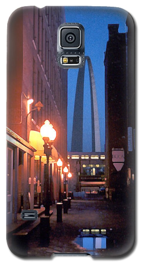 St. Louis Galaxy S5 Case featuring the photograph St. Louis Arch by Steve Karol