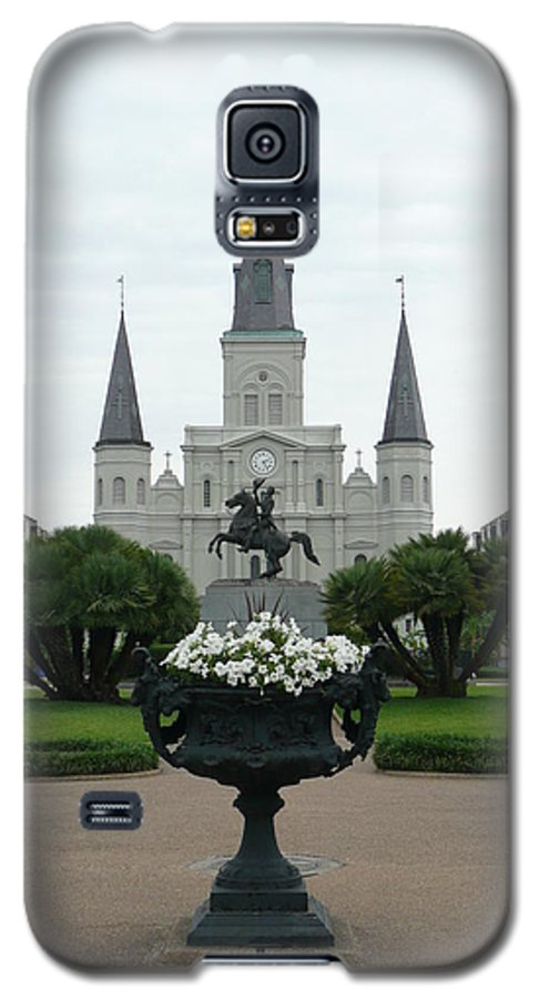 New Orleans Galaxy S5 Case featuring the photograph St. Louis Cathedral New Orleans by Kathy Schumann