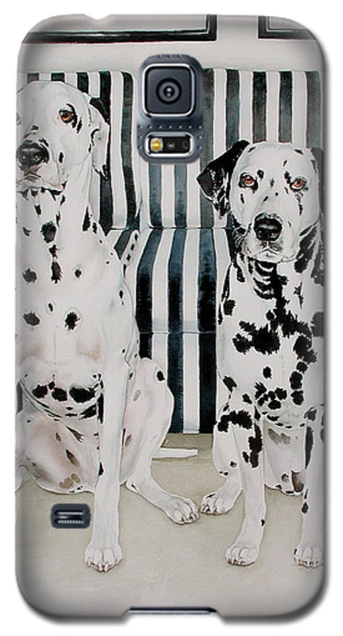 Portrait Galaxy S5 Case featuring the painting Stanley And Stelle by Eileen Hale