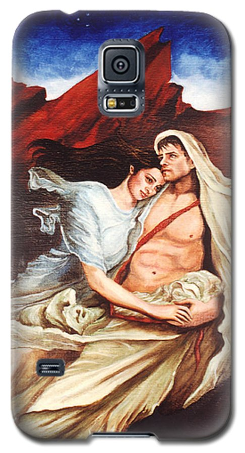 Portrait Galaxy S5 Case featuring the painting Star Crossed Lovers by Teresa Carter