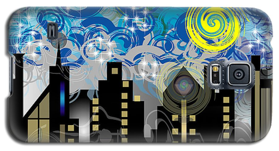 Jazz Galaxy S5 Case featuring the digital art Starry Night by George Pasini
