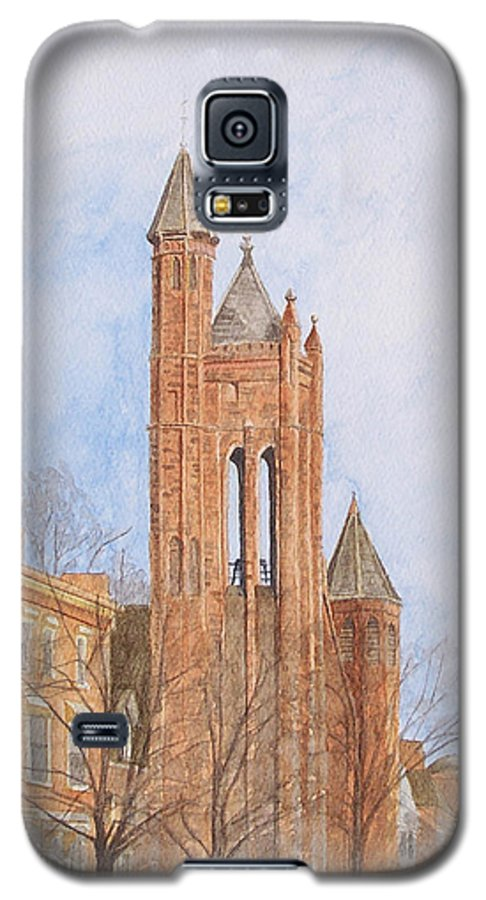 Gothic Galaxy S5 Case featuring the painting State Street Church by Dominic White