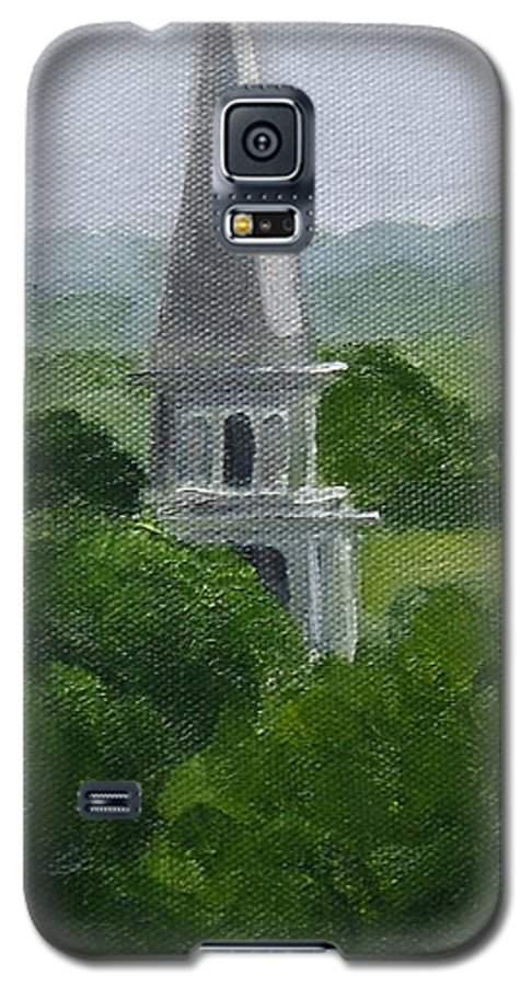 Steeple Galaxy S5 Case featuring the painting Steeple by Toni Berry