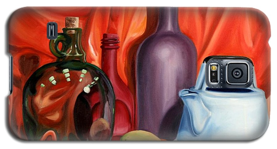 Still Life Galaxy S5 Case featuring the painting Still Life With Pear by Maryn Crawford