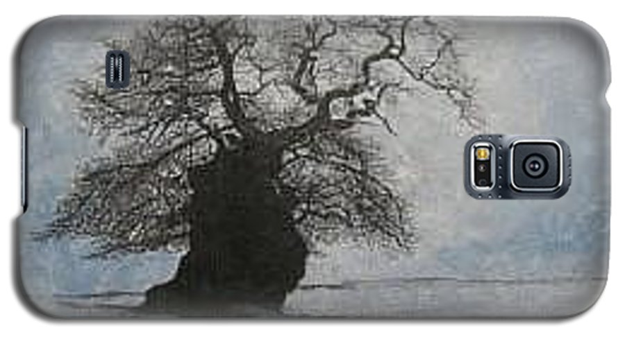 Silhouette Galaxy S5 Case featuring the painting Stilton Silhouette by Leah Tomaino