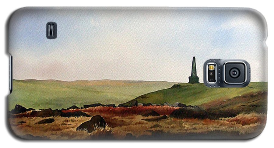 Landscape Galaxy S5 Case featuring the painting Stoodley Pike by Paul Dene Marlor