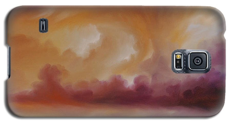 Tempest Galaxy S5 Case featuring the painting Storm Clouds 2 by James Christopher Hill