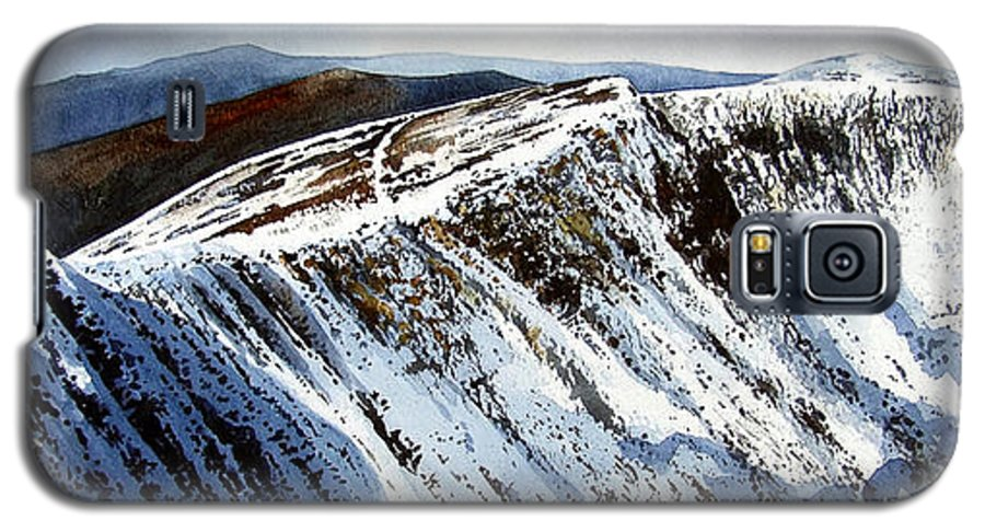 Helvellin Galaxy S5 Case featuring the painting Striding Edge Leading To Helvellin Sumit by Paul Dene Marlor