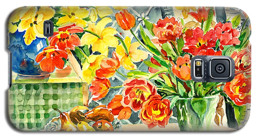 Watercolor Galaxy S5 Case featuring the painting Studio Still Life by Ingrid Dohm