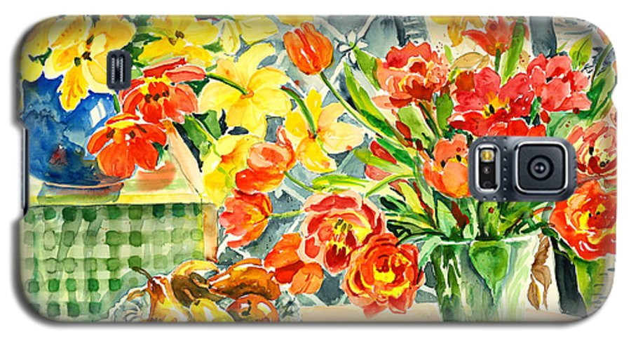 Watercolor Galaxy S5 Case featuring the painting Studio Still Life by Alexandra Maria Ethlyn Cheshire