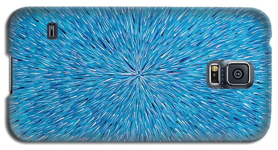 Abstract Galaxy S5 Case featuring the painting Su Gaia Rain by Dean Triolo