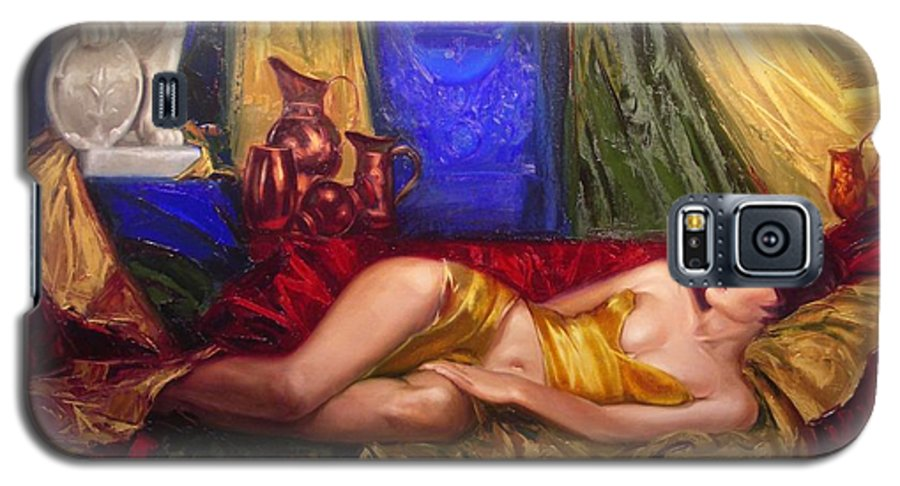 Art Galaxy S5 Case featuring the painting Sultan Spouse by Sergey Ignatenko