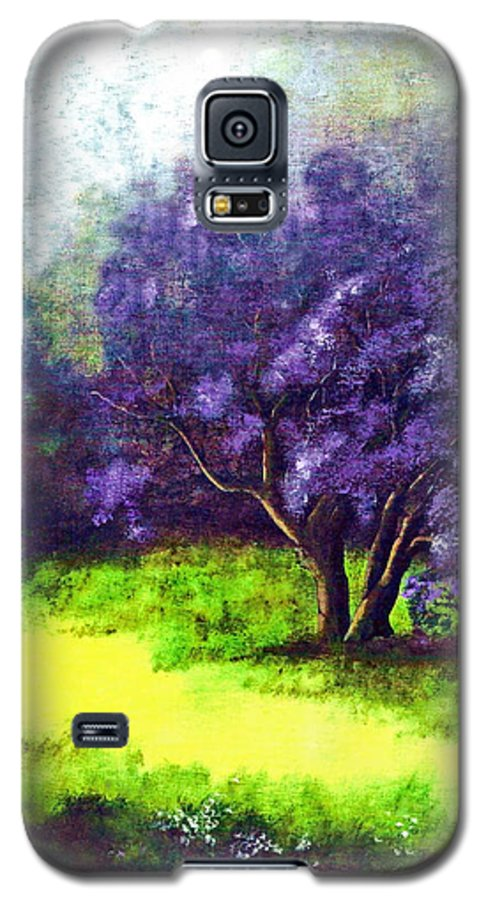 Fine Art Print Galaxy S5 Case featuring the painting Summer Mist by Patricia Griffin Brett