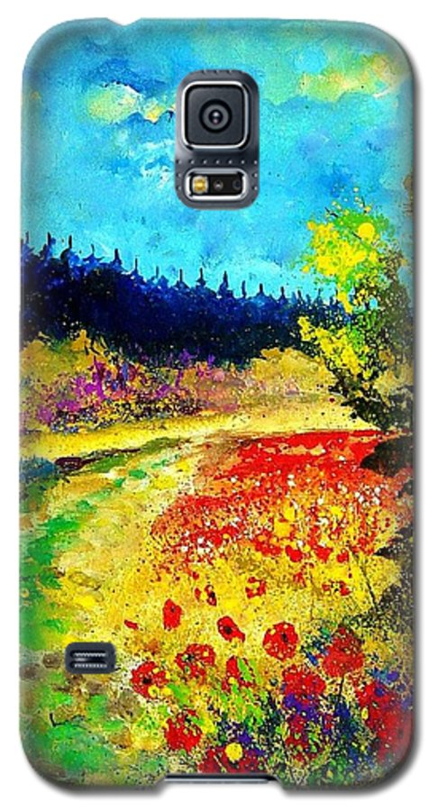 Flowers Galaxy S5 Case featuring the painting Summer by Pol Ledent