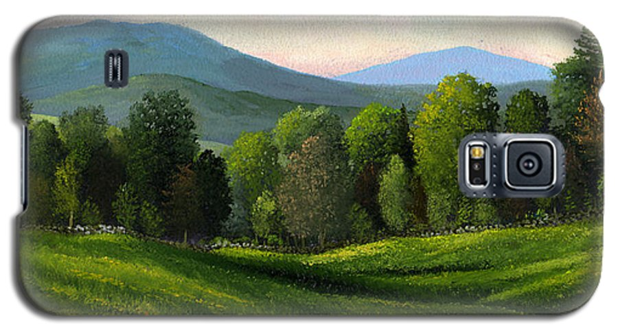 Landscape Galaxy S5 Case featuring the painting Summers Ending by Frank Wilson