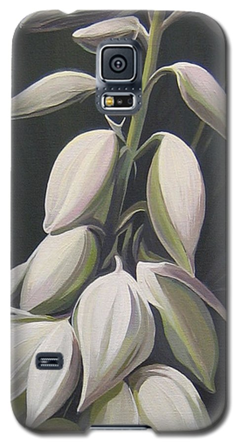 Yucca Plant Galaxy S5 Case featuring the painting Summersilver by Hunter Jay