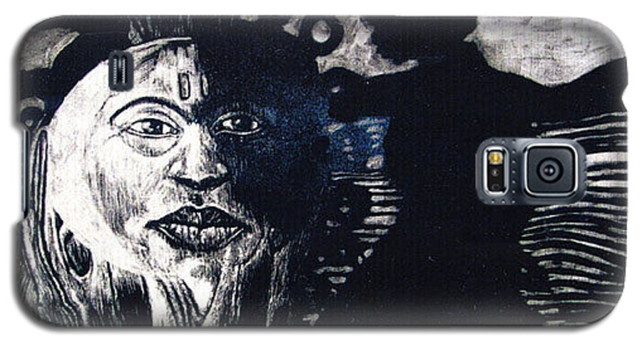 Galaxy S5 Case featuring the mixed media Sun Dance by Chester Elmore