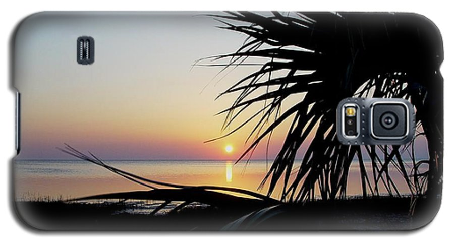 Sunset Galaxy S5 Case featuring the photograph Sun Touched by Debbie May