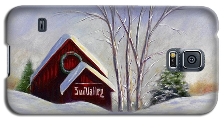 Landscape White Galaxy S5 Case featuring the painting Sun Valley 1 by Shannon Grissom