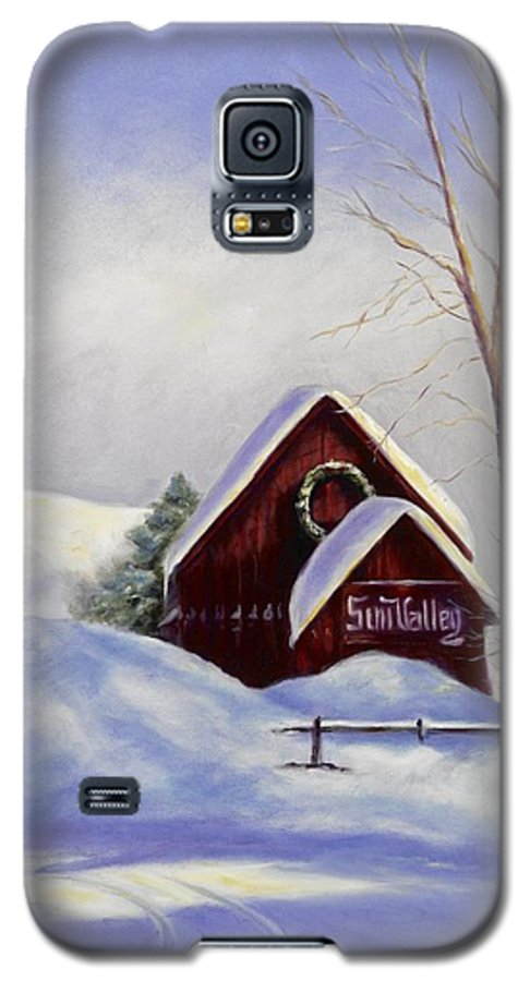 Landscape Galaxy S5 Case featuring the painting Sun Valley 2 by Shannon Grissom