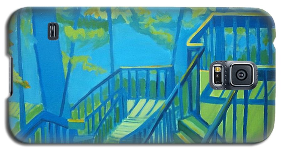 New Hampshire Galaxy S5 Case featuring the painting Suncook Stairwell by Debra Bretton Robinson