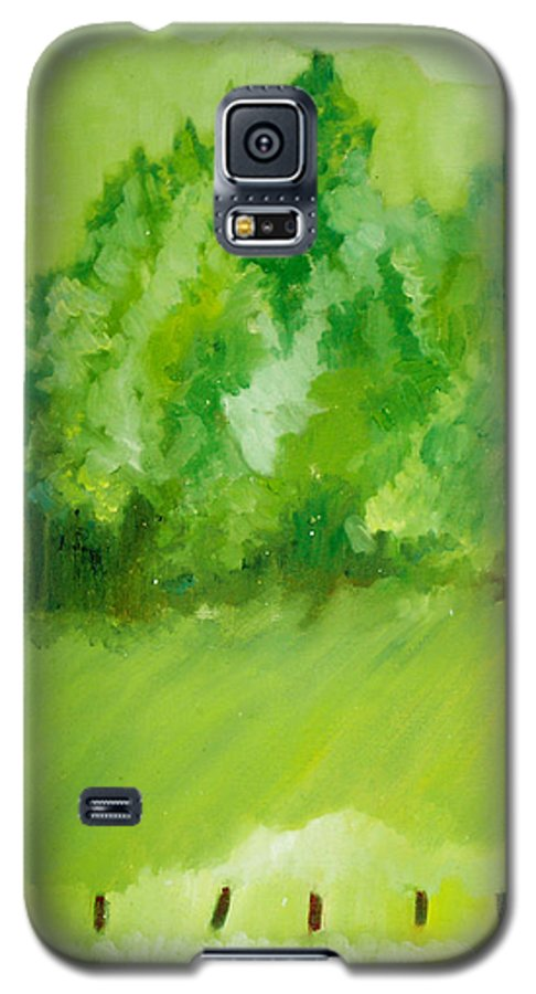 Spring Galaxy S5 Case featuring the painting Sunday At Two Thirty by Seth Weaver